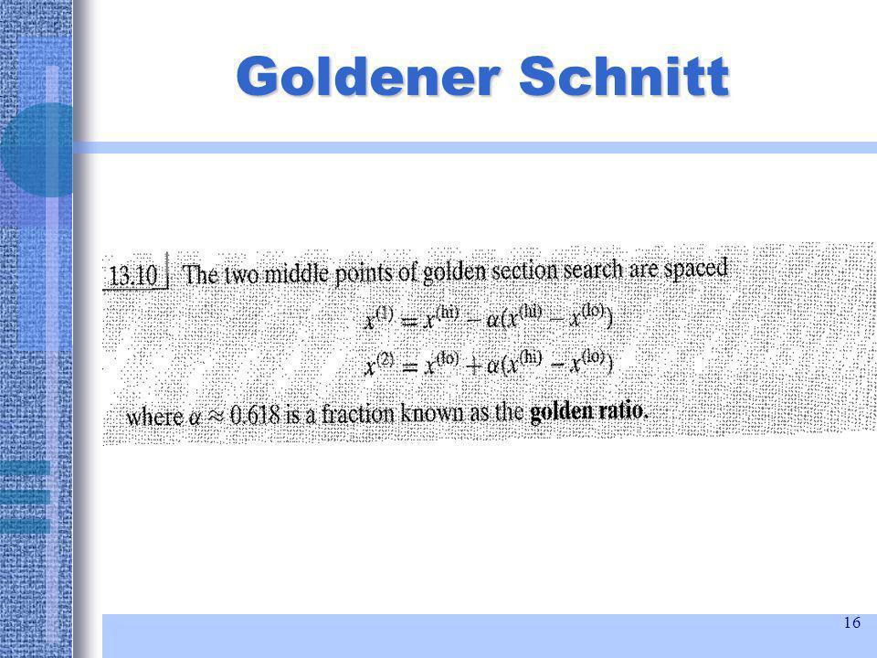 16 Goldener Schnitt