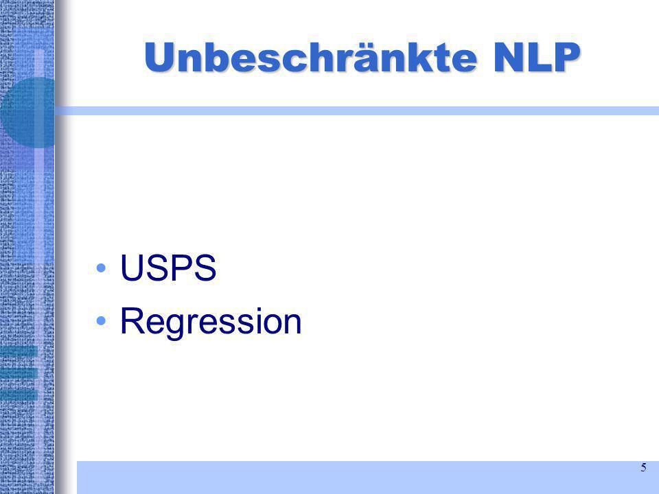 5 Unbeschränkte NLP USPS Regression