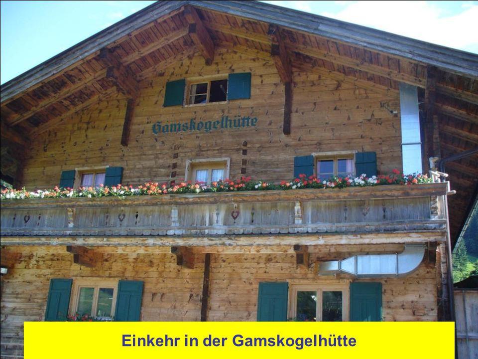 Einkehr in der Gamskogelhütte