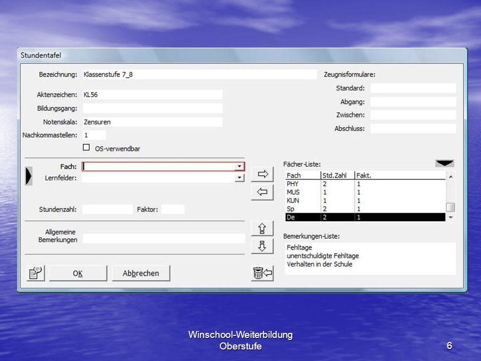 Winschool-Weiterbildung Oberstufe37 11.Abitur Rufen Sie die Abiturprüfung auf.