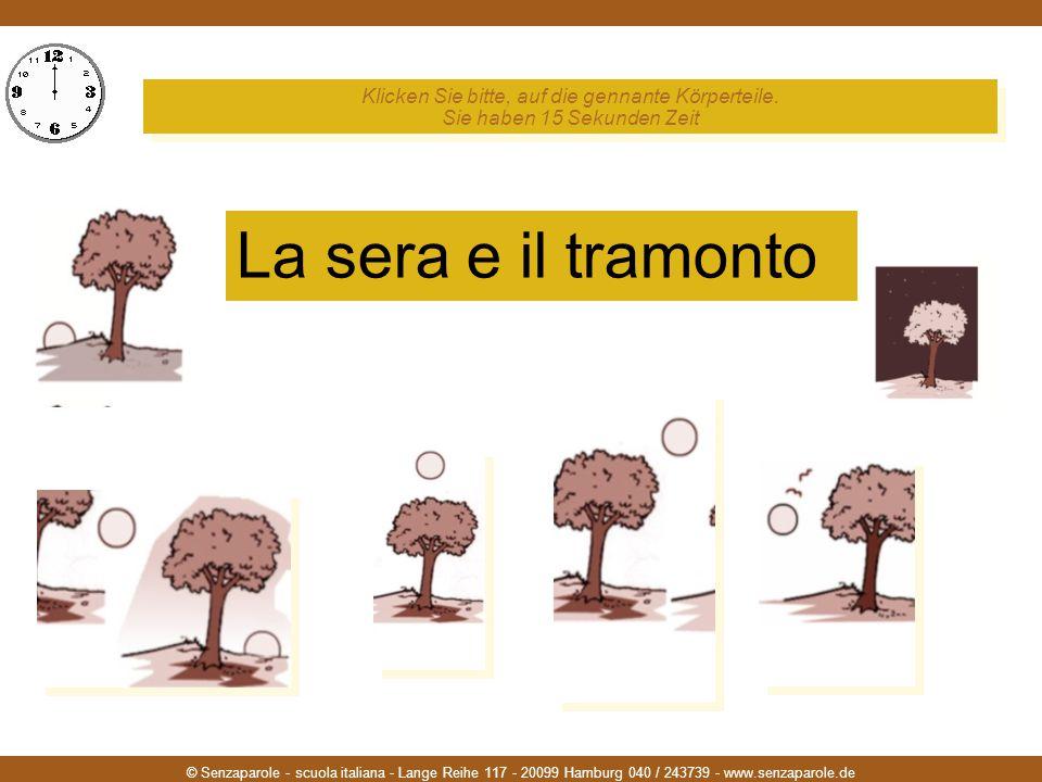 © Senzaparole - scuola italiana - Lange Reihe 117 - 20099 Hamburg 040 / 243739 - www.senzaparole.de Klicken Sie bitte, auf die gennante Körperteile.