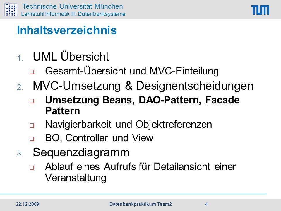 Technische Universität München Lehrstuhl Informatik III: Datenbanksysteme Inhaltsverzeichnis 1.