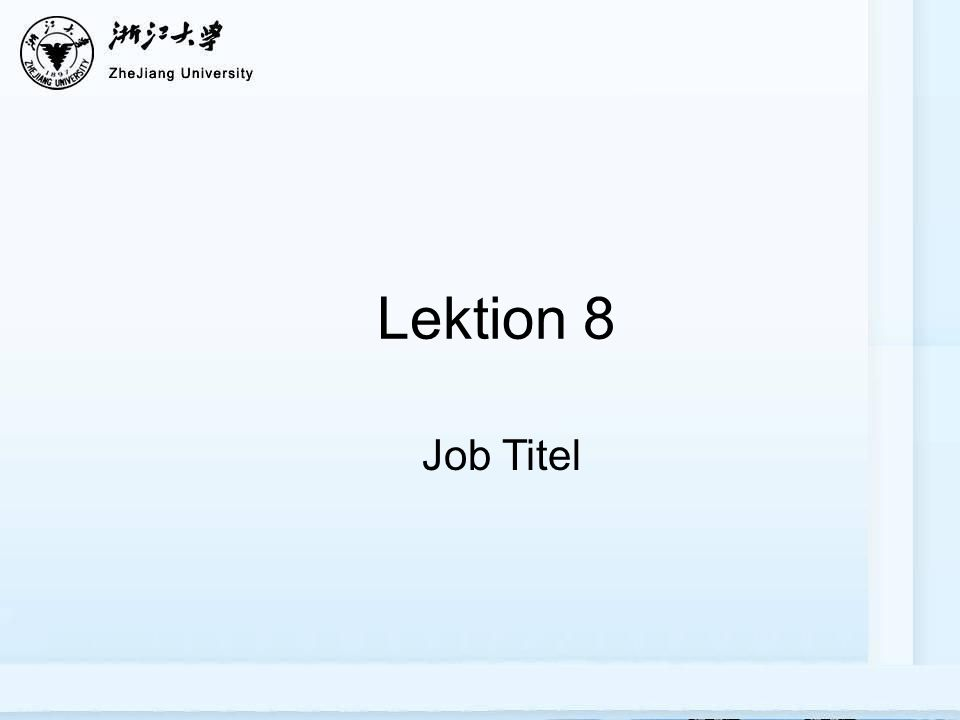 Lektion 8 Job Titel