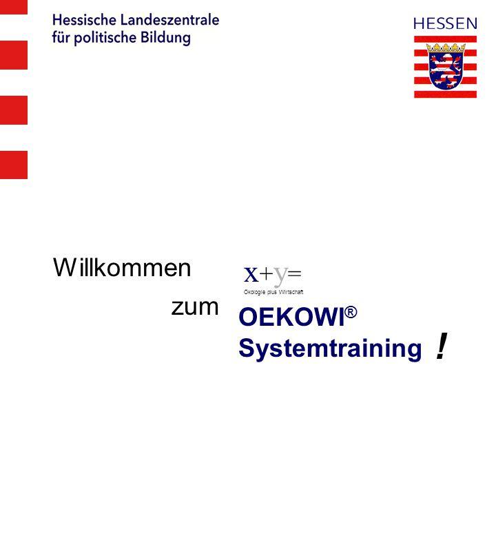 x + y = Ökologie plus Wirtschaft OEKOWI ® Systemtraining Willkommen ! zum