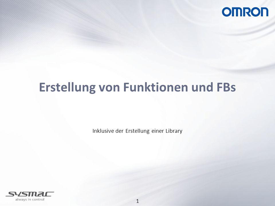 1 Erstellung von Funktionen und FBs Inklusive der Erstellung einer Library