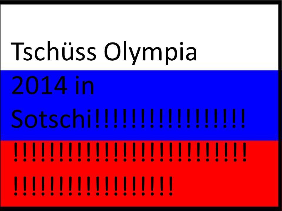 So schön die olympischenspiele auch waren jetzt sind sie vorbei
