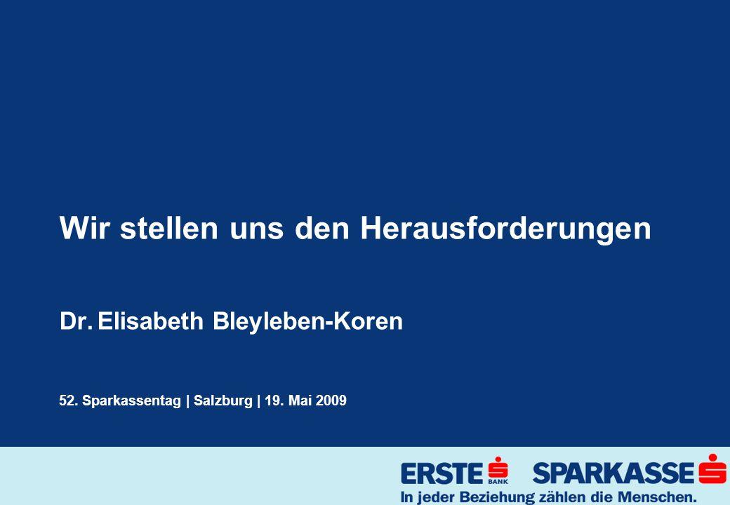 Wir stellen uns den Herausforderungen Dr. Elisabeth Bleyleben-Koren 52.