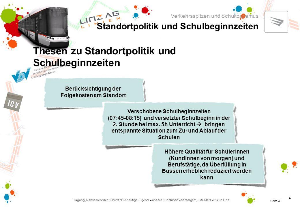 """Tagung """"Nahverkehr der Zukunft / Die heutige Jugend."""