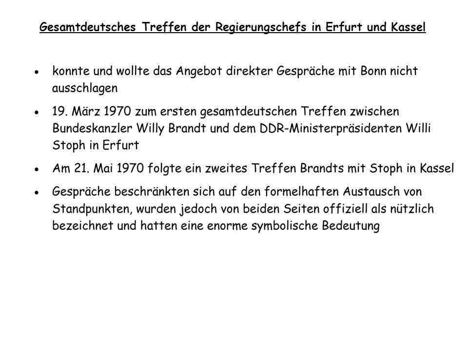 Gesamtdeutsches Treffen der Regierungschefs in Erfurt und Kassel