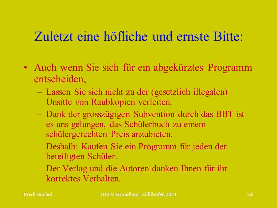 Fredi BüchelDELV Grundkurs.