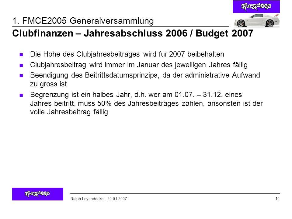Ralph Leyendecker, 20.01.2007 1.