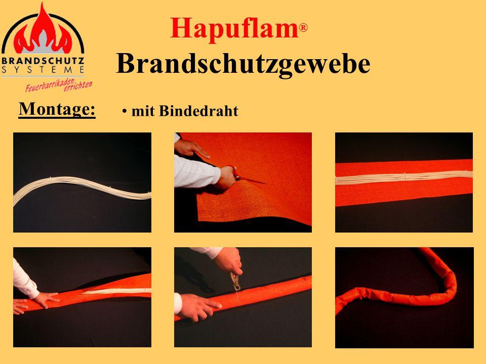 • Speziell entwickelte Hapuflam® Montageklammer Kabel können jederzeit problemlos entfernt oder neu verlegt werden (häufiges Öffnen und Schließen mögl