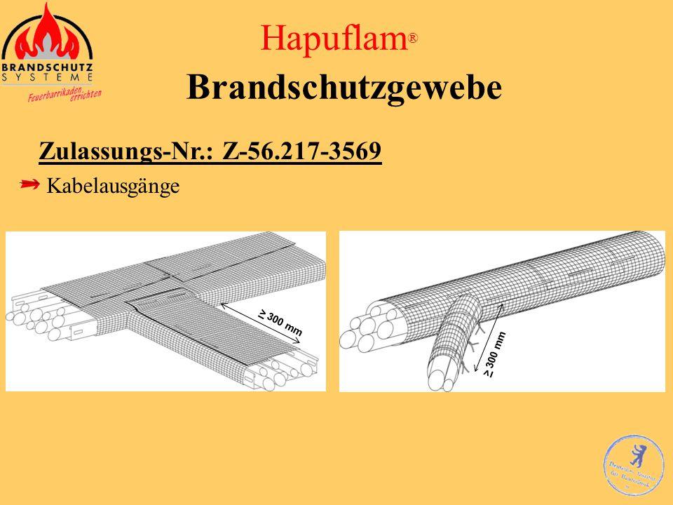 Hapuflam ® Brandschutzgewebe Zulassungs-Nr.: Z-56.217-3569