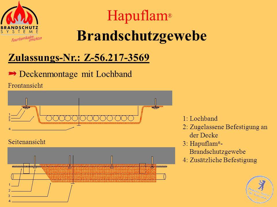 Hapuflam ® Brandschutzgewebe Zulassungs-Nr.: Z-56.217-3569 Kabelausgänge > 300 mm