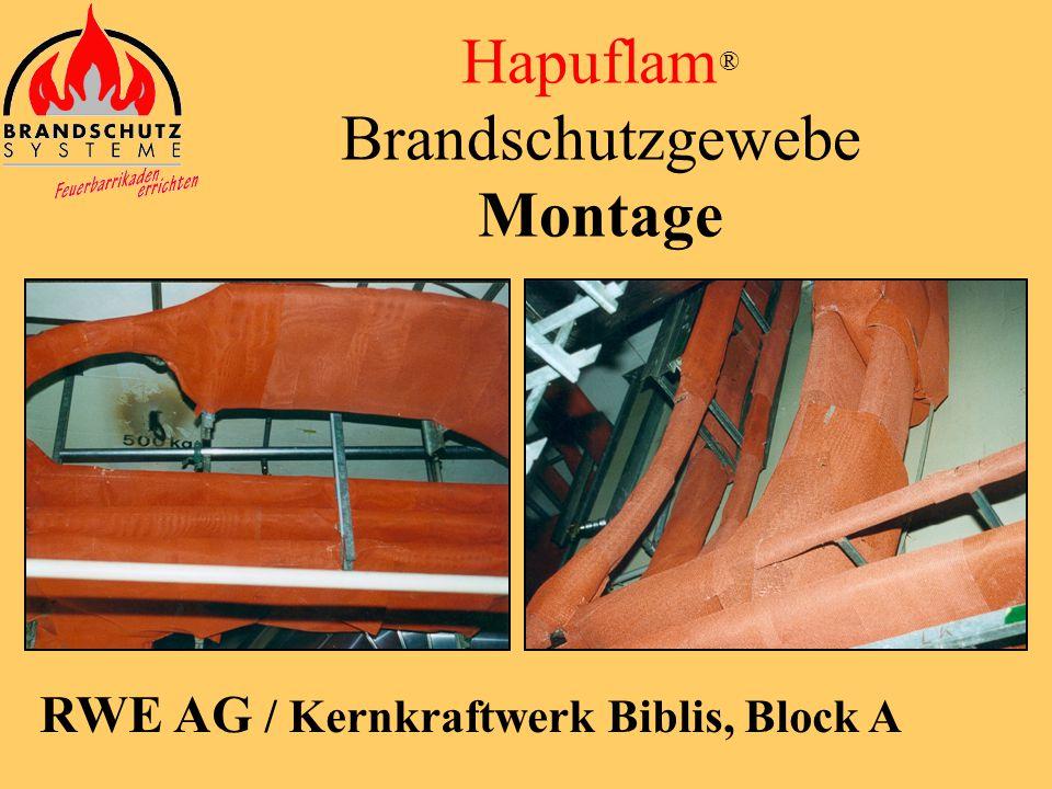 Hapuflam ® Brandschutzgewebe Zulassungs-Nr.: Z-56.217-3569 Decken- und Wandmontage