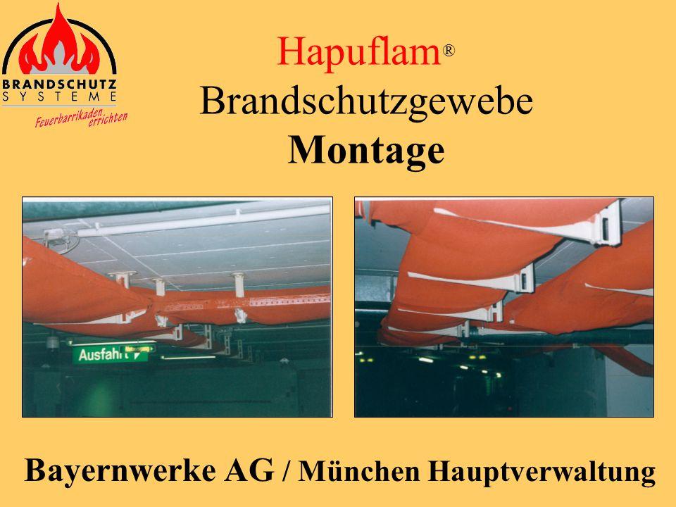 Hapuflam ® Brandschutzgewebe Montage Flughafen / Frankfurt Terminal 1B - Fahrstraße
