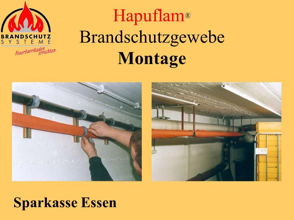 Hapuflam ® Brandschutzgewebe Montage Krankenhaus Fichtelgebirge