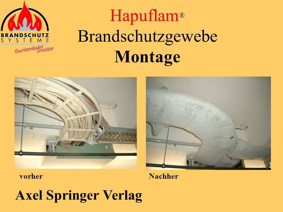 Sparkasse Essen Hapuflam ® Brandschutzgewebe Montage