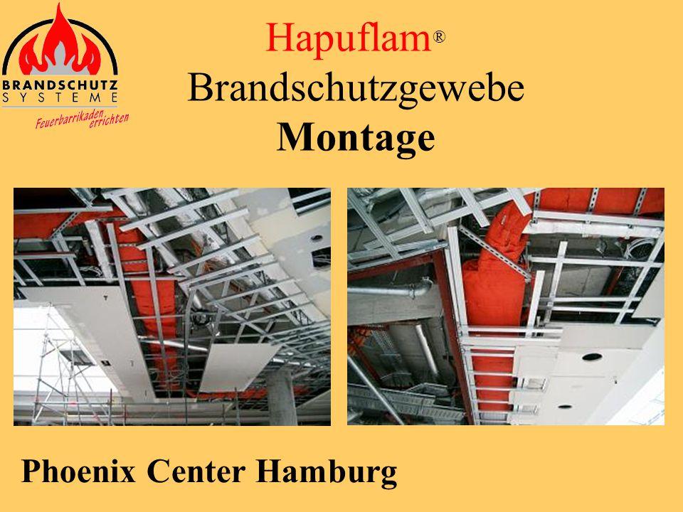 Lufthansa Hamburg Hapuflam ® Brandschutzgewebe Montage