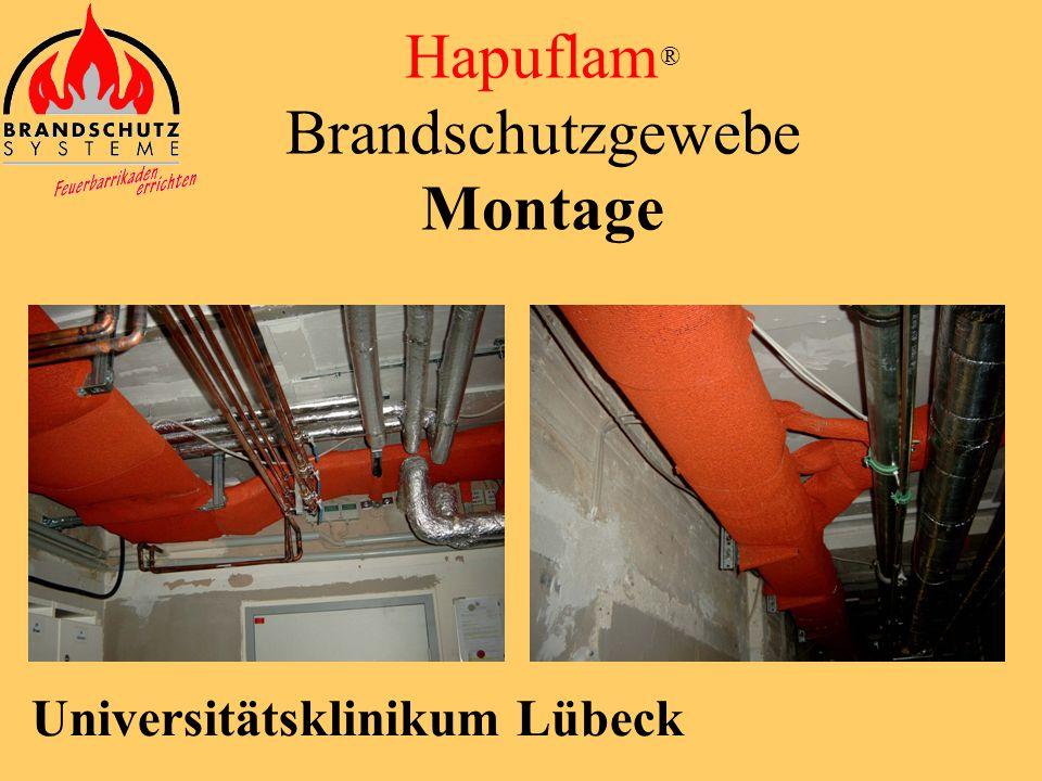 Phoenix Center Hamburg Hapuflam ® Brandschutzgewebe Montage