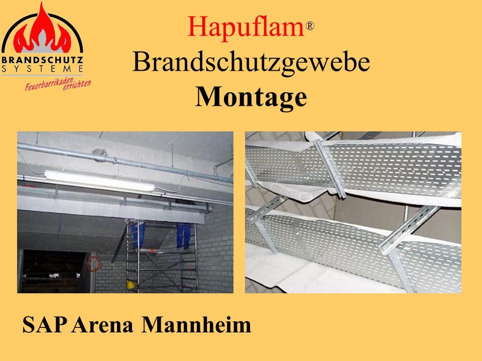 Ticona Werke Kelsterbach Hapuflam ® Brandschutzgewebe Montage
