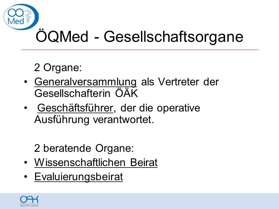 ÖQMed Wissenschaftlicher Beirat •AbgzNR Theresia Haidlmayer (BMGF) •Dr.