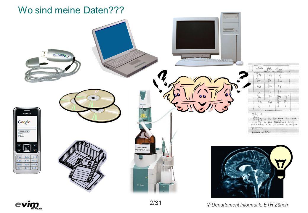 © Departement Informatik, ETH Zürich Wo sind meine Daten??? 2/31