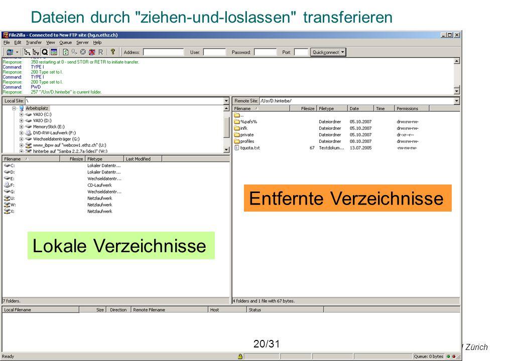 © Departement Informatik, ETH Zürich Dateien durch
