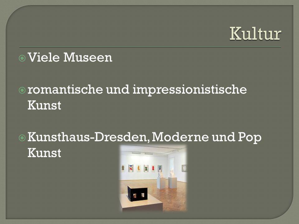  Viele Museen  romantische und impressionistische Kunst  Kunsthaus-Dresden, Moderne und Pop Kunst