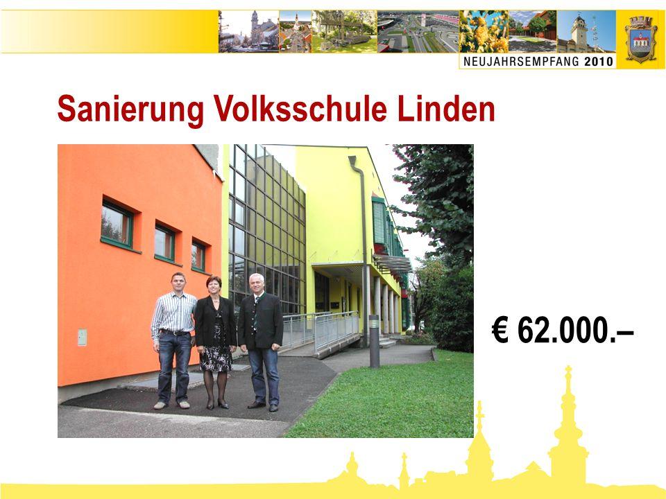 Sanierung Volksschule Linden € 62.000.–