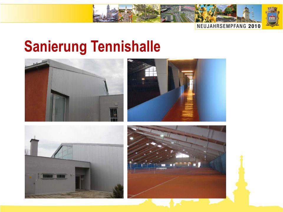 Sanierung Tennishalle