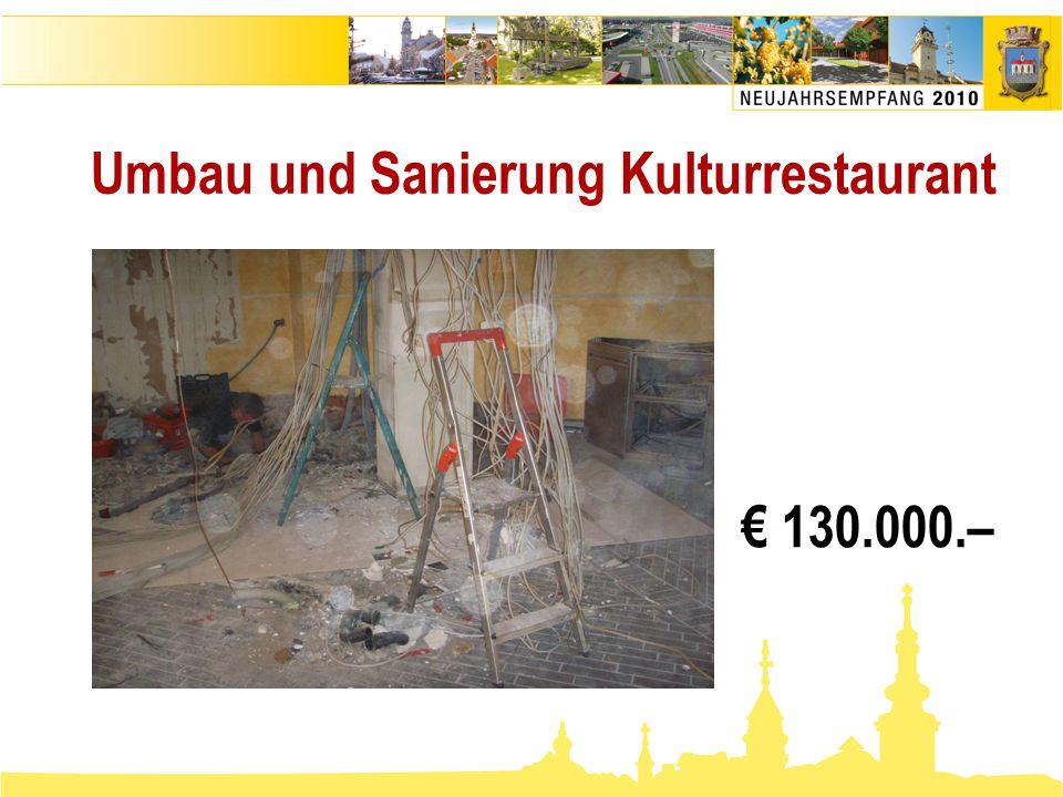 Umbau und Sanierung Kulturrestaurant € 130.000.–