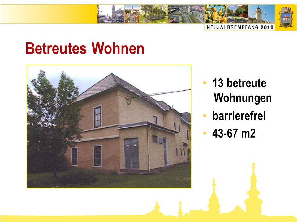 Betreutes Wohnen • 13 betreute Wohnungen • barrierefrei • 43-67 m2