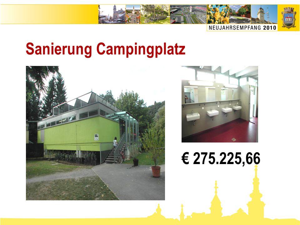 Sanierung Campingplatz € 275.225,66