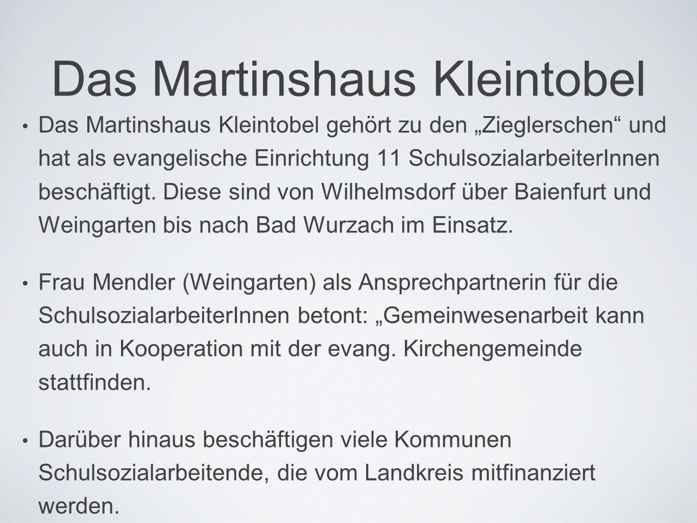 """Das Martinshaus Kleintobel • Das Martinshaus Kleintobel gehört zu den """"Zieglerschen"""" und hat als evangelische Einrichtung 11 SchulsozialarbeiterInnen"""