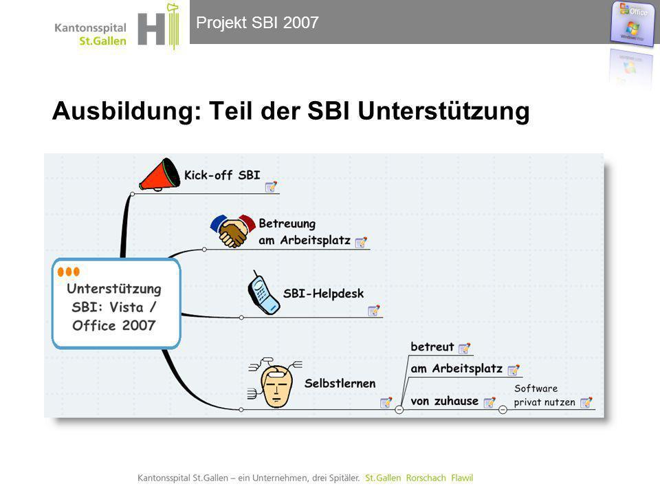 Projekt SBI 2007 Ausbildung: Teil der SBI Unterstützung