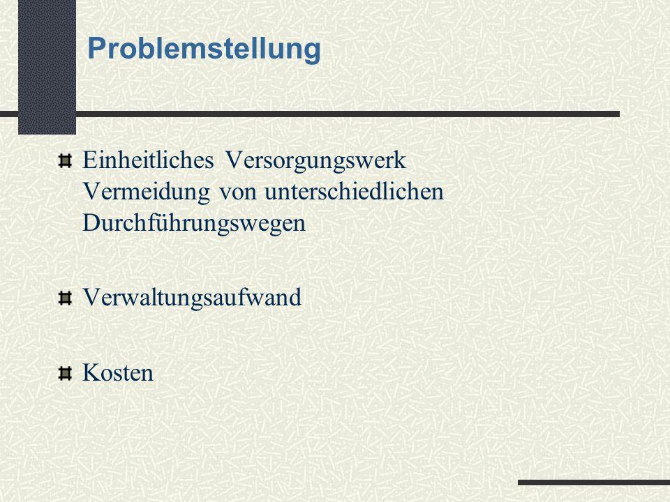 Lösungsmöglichkeit: Die arbeitnehmerfinanzierte Versorgung mit der MVU Unterstützungskasse für die mittelständische Wirtschaft e.V.