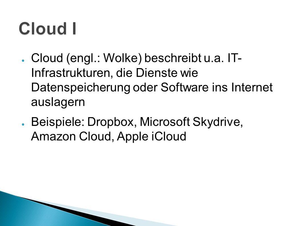 ● Cloud (engl.: Wolke) beschreibt u.a.