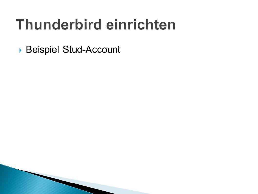  Beispiel Stud-Account