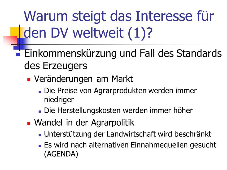 Warum steigt das Interesse für den DV weltweit (1).