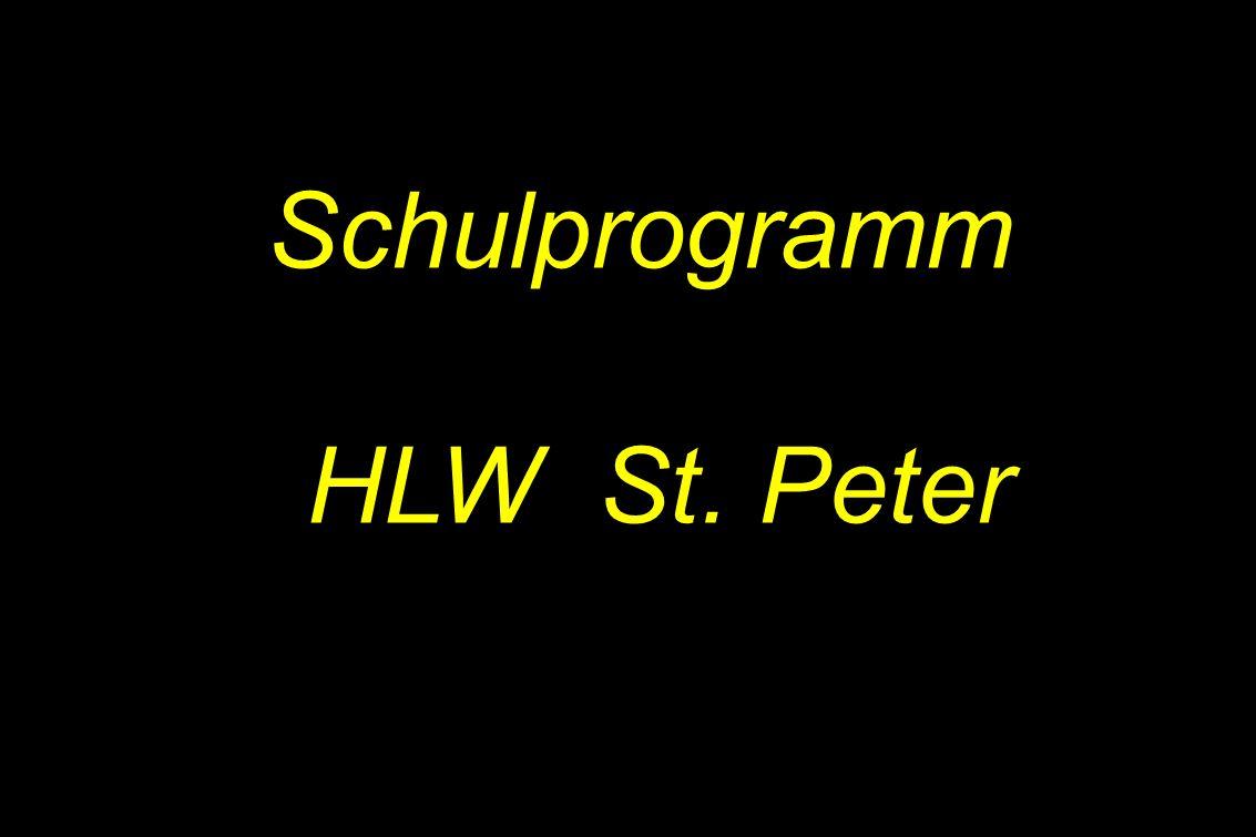 1 Schulprogramm HLW St. Peter