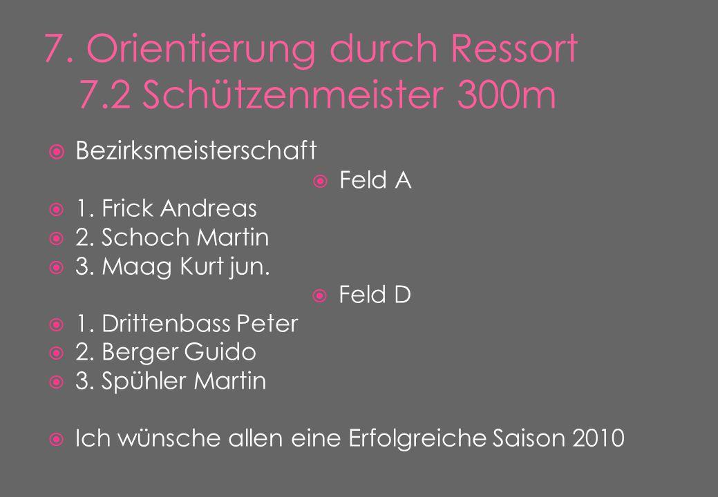  Bezirksmeisterschaft  Feld A  1. Frick Andreas  2.