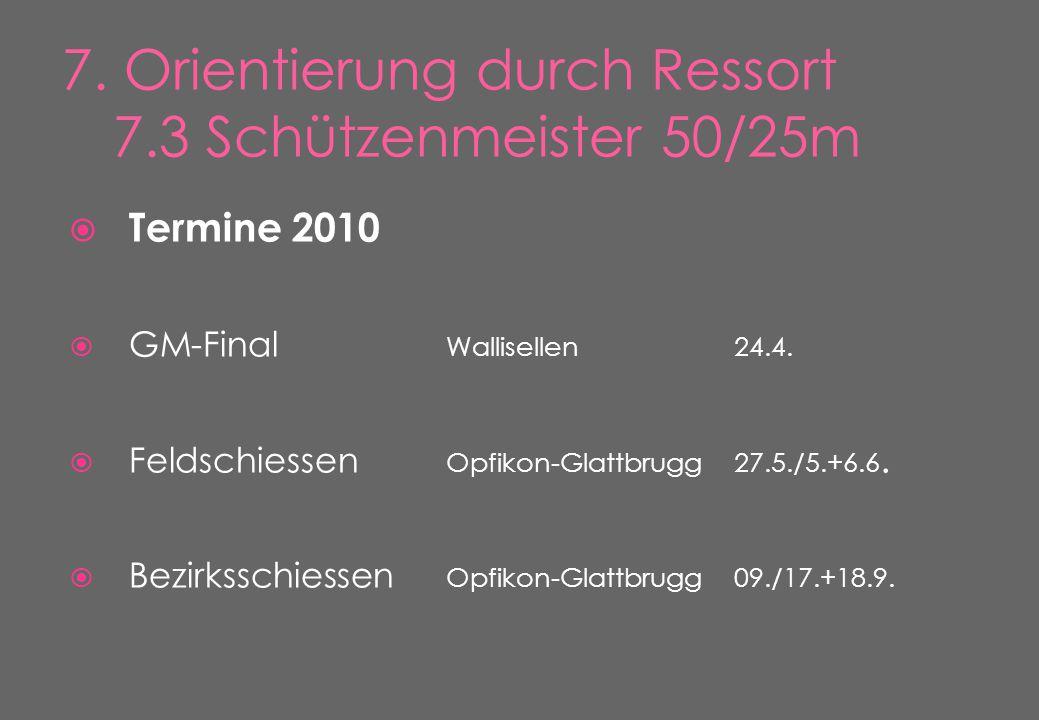  Termine 2010  GM-Final Wallisellen24.4.  Feldschiessen Opfikon-Glattbrugg27.5./5.+6.6.