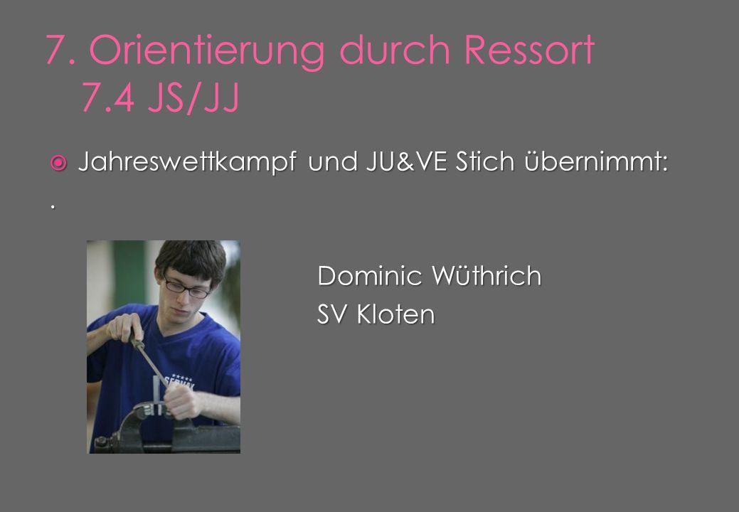  Jahreswettkampf und JU&VE Stich übernimmt:. Dominic Wüthrich SV Kloten