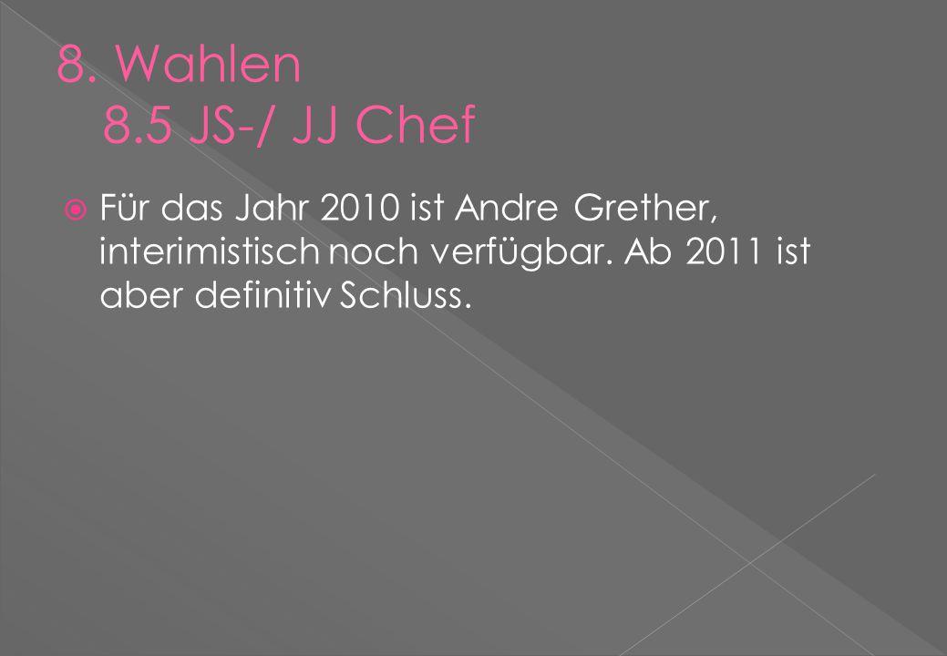  Für das Jahr 2010 ist Andre Grether, interimistisch noch verfügbar.