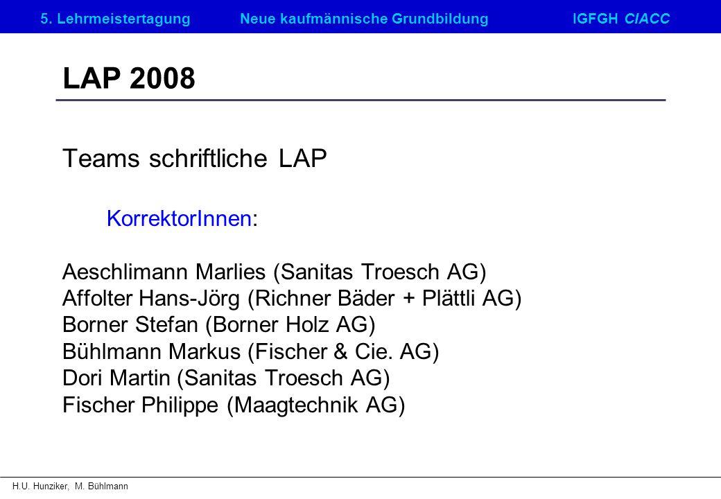 5. LehrmeistertagungNeue kaufmännische GrundbildungIGFGH CIACC H.U. Hunziker, M. Bühlmann