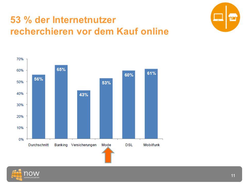 11 53 % der Internetnutzer recherchieren vor dem Kauf online