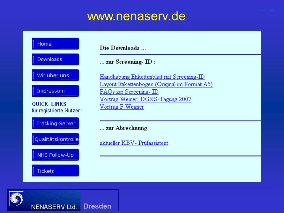 Verknüpfung von Stoffwechsel- und Hörscreening durch Einführung einer Screening - ID Dresden TitelTitel