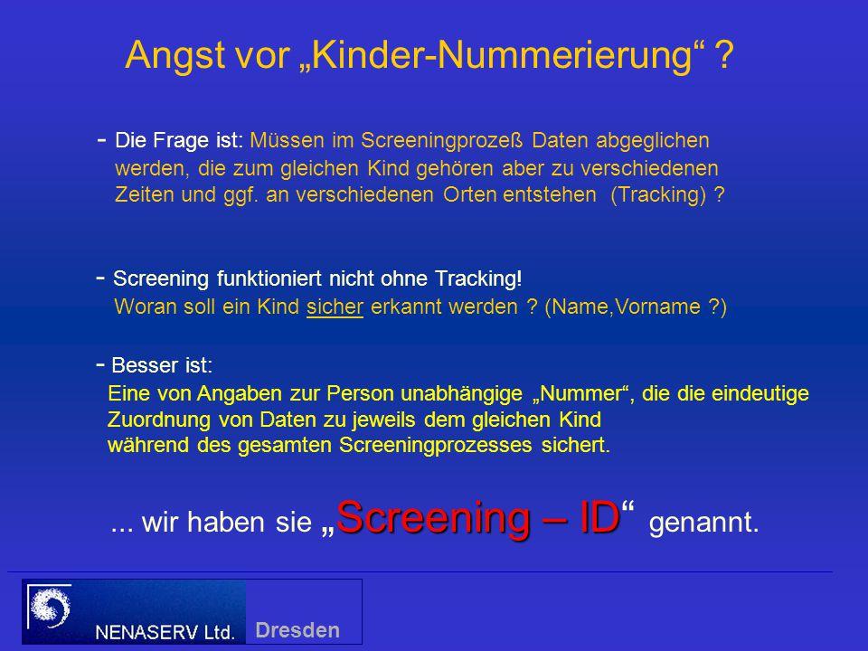 """Screening – ID...wir haben sie """"Screening – ID genannt."""