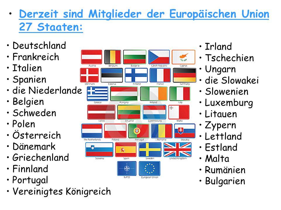 • •Hier kann man die Länder Europäischer Union sehen.